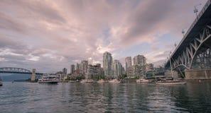 Coucher du soleil au-dessus de Vancouver 2 Photo libre de droits