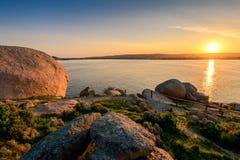 Coucher du soleil au-dessus de Victor Harbor Photographie stock libre de droits