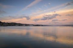 Coucher du soleil au-dessus de Wellington photo stock