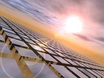 Coucher du soleil au-dessus des cubes Photographie stock libre de droits