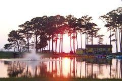 Coucher du soleil au-dessus du compartiment de chesapeake Photos libres de droits