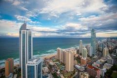 Coucher du soleil au-dessus du Gold Coast Image stock