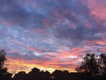 Coucher du soleil au-dessus du Northumberland Photographie stock