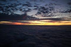 Coucher du soleil au-dessus du R-U Photographie stock