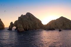 Coucher du soleil au Land's End Photo libre de droits