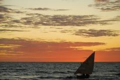 Coucher du soleil au Madagascar Photo libre de droits