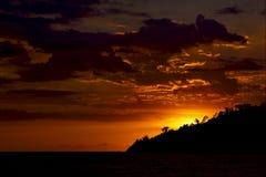 Coucher du soleil au Madagascar Photographie stock libre de droits