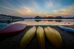 Coucher du soleil au marécage Putrajaya Malaisie Photographie stock