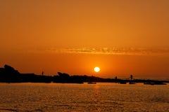 Coucher du soleil au Maroc Photographie stock