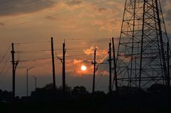 Coucher du soleil au New Jersey Photos libres de droits