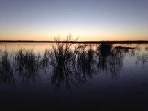 Coucher du soleil au Nouveau Mexique images stock