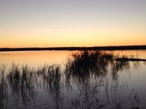 Coucher du soleil au Nouveau Mexique photographie stock