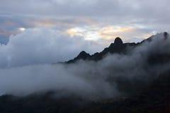Coucher du soleil au Pérou Photo stock