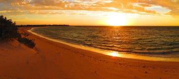 Coucher du soleil au parc national de chaîne de cap, Australie occidentale Image stock