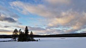 Coucher du soleil au parc national de Yellowstone photo stock
