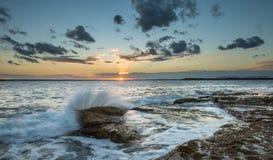 Coucher du soleil au perouse de La, Sydney Photos stock