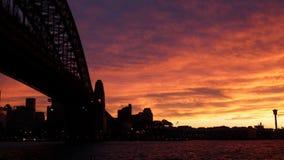 Coucher du soleil au port Image stock