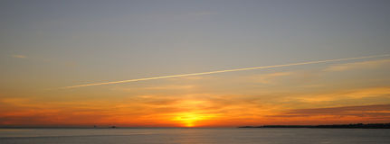 Coucher du soleil au Portugal Image stock