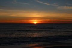 Coucher du soleil au Portugal Images stock