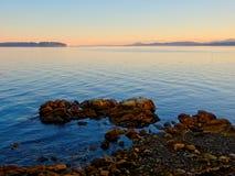 Coucher du soleil au rivage de Sidney image libre de droits