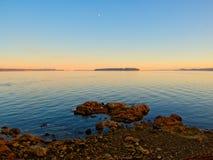 Coucher du soleil au rivage de Sidney image stock
