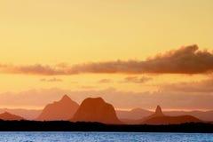 Coucher du soleil australien image stock