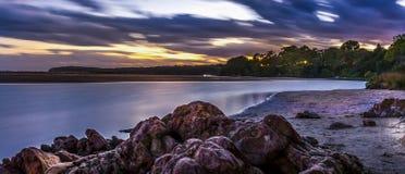 Coucher du soleil australien photo libre de droits