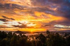 Coucher du soleil australien Photographie stock libre de droits