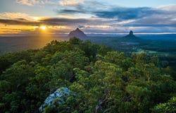 Coucher du soleil australien Photos libres de droits
