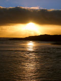 Coucher du soleil australien de littoral Photos stock