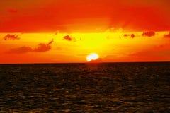 Coucher du soleil aux €™s de Puka Shell Beach Boracay Philippineâ Photographie stock libre de droits