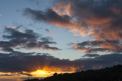 Coucher du soleil aux Açores Image libre de droits