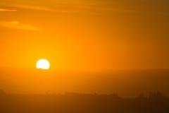 Coucher du soleil aux mouintains Image libre de droits