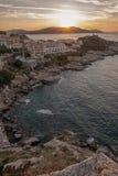 Coucher du soleil aux vacances Photos libres de droits