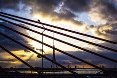 Coucher du soleil avant la tempête Photos libres de droits