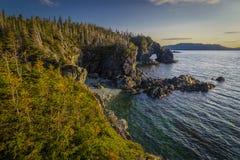 Coucher du soleil avec un pont naturel Image libre de droits