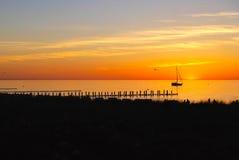 Coucher du soleil baltique Image libre de droits