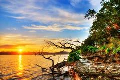 Coucher du soleil - Baluzek Image stock