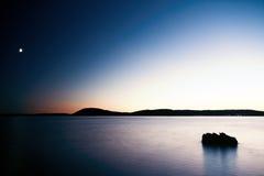 Coucher du soleil bleu Images libres de droits
