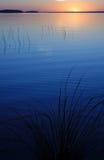 Coucher du soleil bleu Photographie stock libre de droits