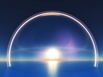 Coucher du soleil bleu Photo libre de droits