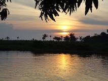 Coucher du soleil bolivien photos stock