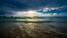 Coucher du soleil Boracay Philippines Images stock