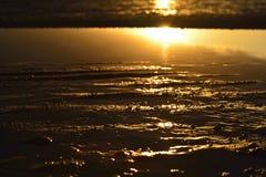 Coucher du soleil bronzé Photos libres de droits