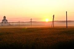 Coucher du soleil céleste Photos libres de droits