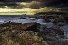 Coucher du soleil côtier Photos libres de droits
