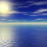 Coucher du soleil calme Images libres de droits