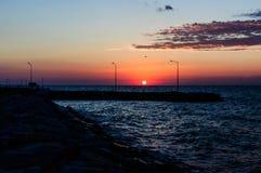 Coucher du soleil calme d'été Photos stock