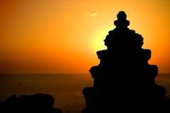 Coucher du soleil cambodgien Images libres de droits