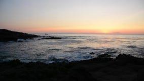 Coucher du soleil Carmel par la mer banque de vidéos